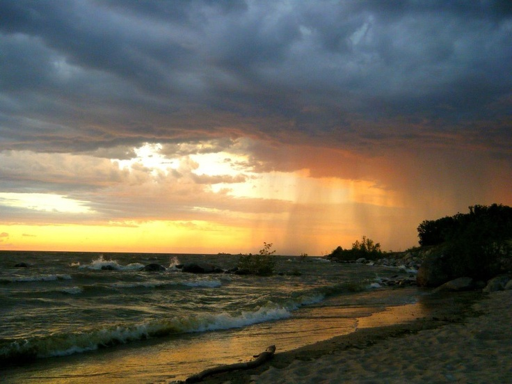 Storm is brewing. Grand beach, Manitoba