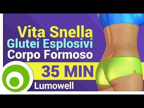 Vita Snella e Glutei Esplosivi - Esercizi per un Corpo Formoso - YouTube
