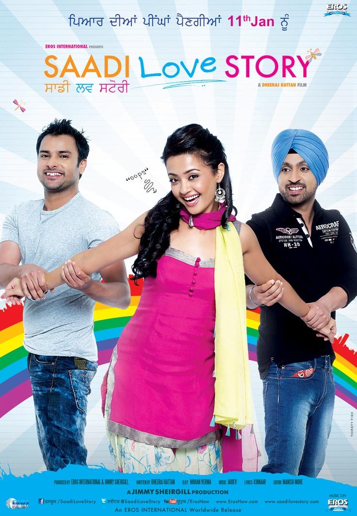 Amrinder Gill, Surveen Chawla & Diljit Dosanjh in Saadi Love Story