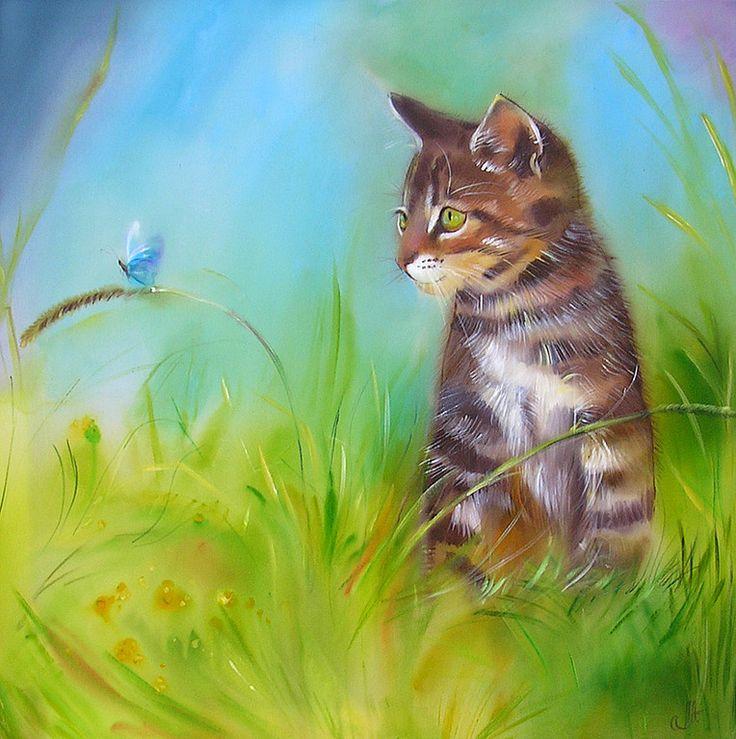 как пейзажи с котами картинки протягивается вдоль побережья