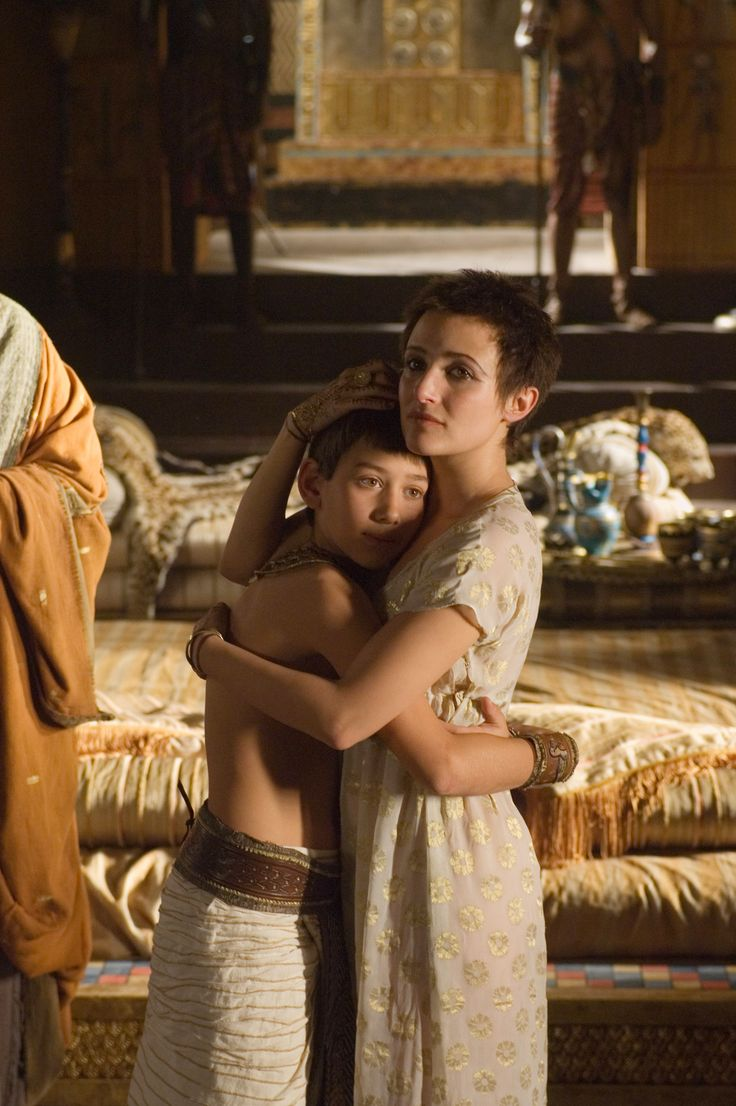 Caesarion and Cleopatra - Max Baldry and Lyndsey Marshal in Rome, set between 49 BC and 31 BC (TV series 2005-2007).
