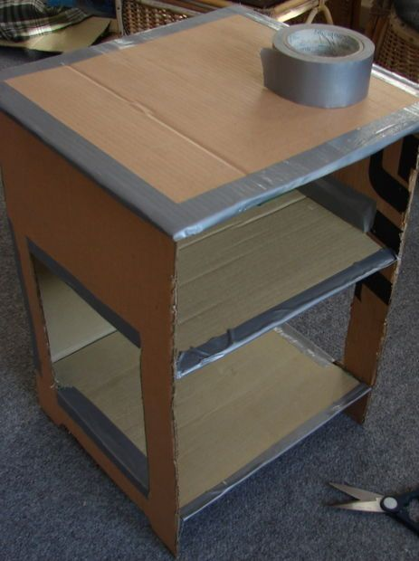 Picture of Cover All Edges With Duct Tape (here is the instructions to make the end table:)
