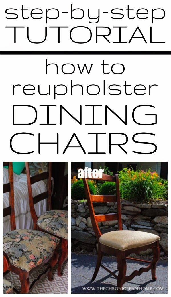 How To Recover Dining Room Chairs Beauteous Design Decoration