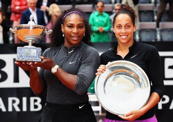 ROME, ITALY - MAY 15: Serana Williams of the United States pictured after winning against Madison Keys of the United States during the Womens Singles Finalduring day eight of The Internazionali BNL d'Italia 2016 on May 15, 2016 in Rome, Italy. (Photo by Matthew Lewis/Getty Images)