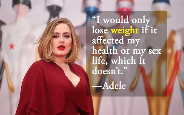 Adele body positivity quote