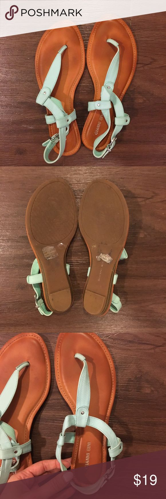 Gianni Bini Turquoise Sandals These sandals have only been worn a few times. Great condition! Size 9 1/2 Gianni Bini Shoes Sandals