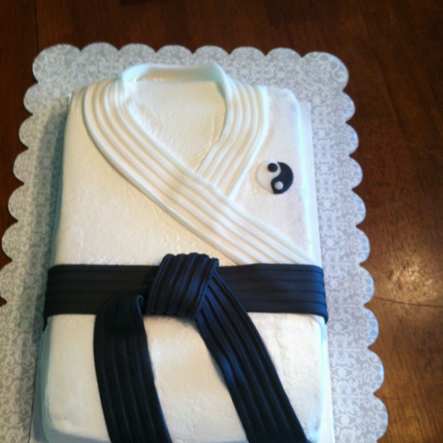 Karate cake, would like to make this for the kids on the last day of Karate class