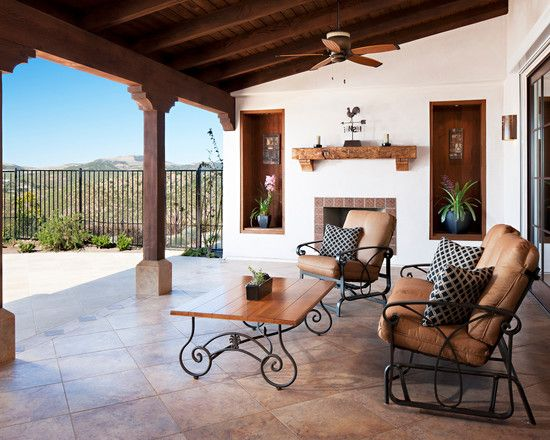 Hilltop residence in spanish ranch style home design for Mediterranean balcony ideas