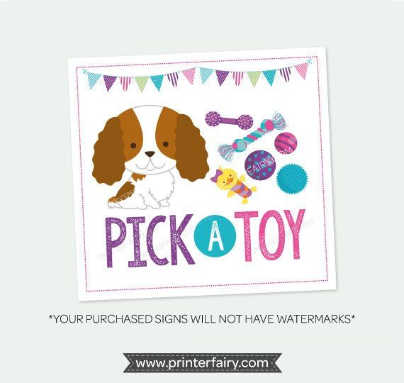 Pick a blanket + Pick a toy Sign, Pet Adoption Party