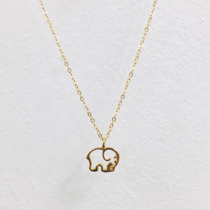 Gold Plated Ella Outline Necklace – Ivory Ella.