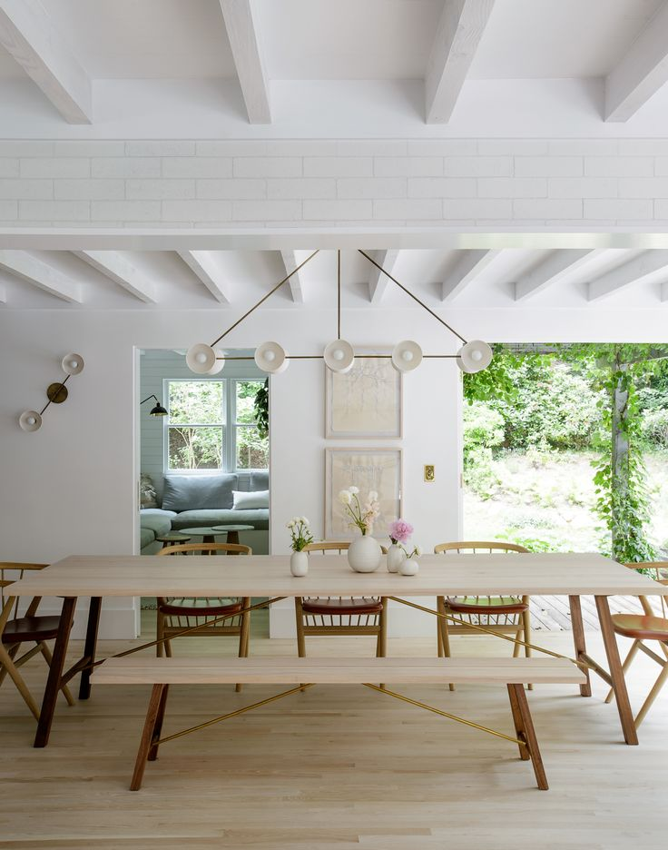 Photo 1 of 3 in Another Country Dining Table Two from A Hamptons Beach Retreat Gets a Scandinavian-Style Makeover - Dwell