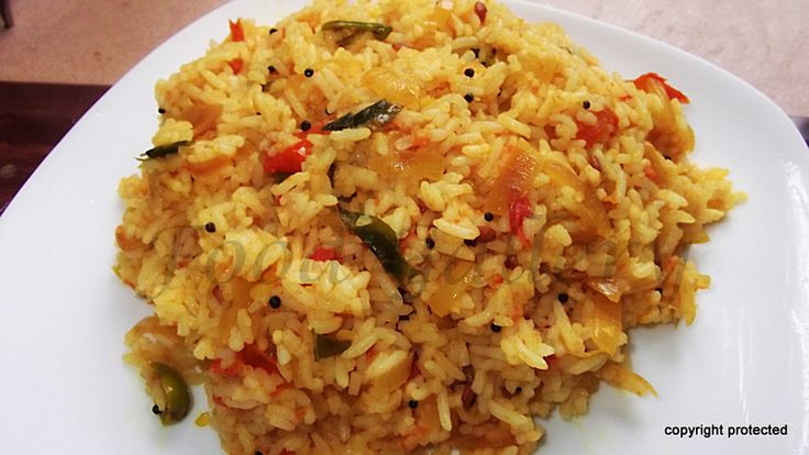 #Tomato #Rice, #Thakkali #Sadam  -- one of the best flavorful rice dishes.  Serve with #papad or any #raitha.