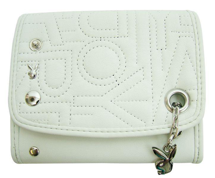 Peňaženka Playboy Diamante White