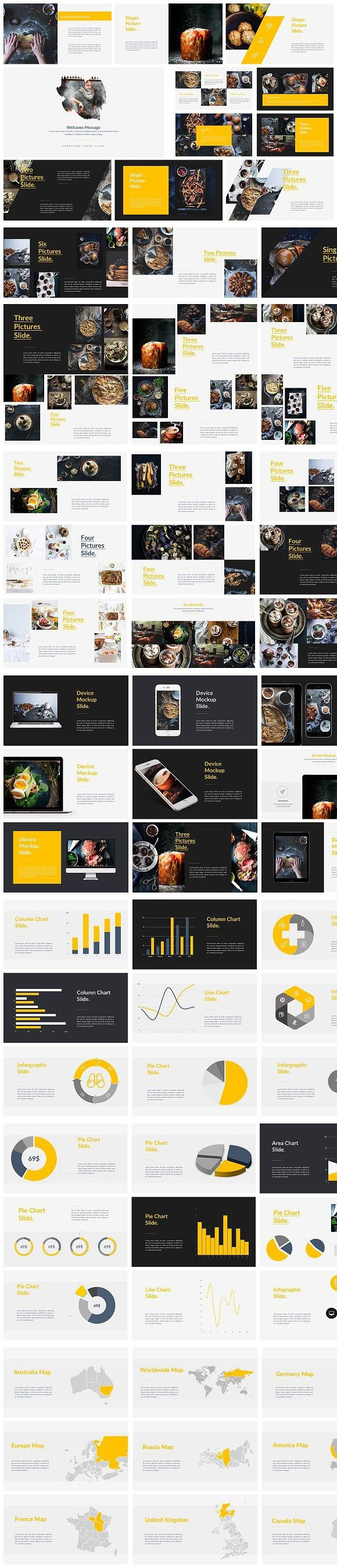 Food Powerpoint Template. Infographic Templates. $15.00