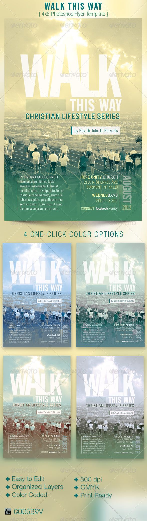 Walk this way church flyer template walk this way fonts for Research study flyer template
