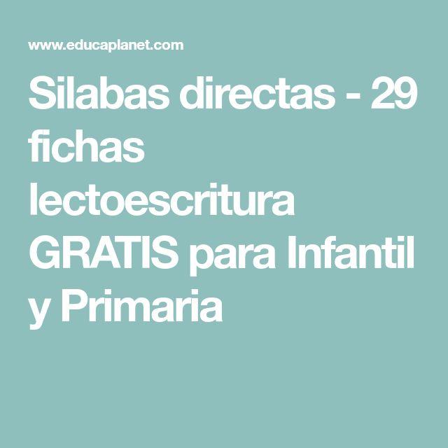 Silabas directas - 29 fichas lectoescritura GRATIS para Infantil y Primaria