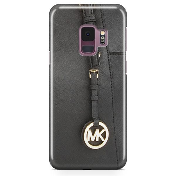 9a3fd7b1f382 Michael Kors Mk Bag Black Gold Samsung Galaxy S9 Plus Case ...
