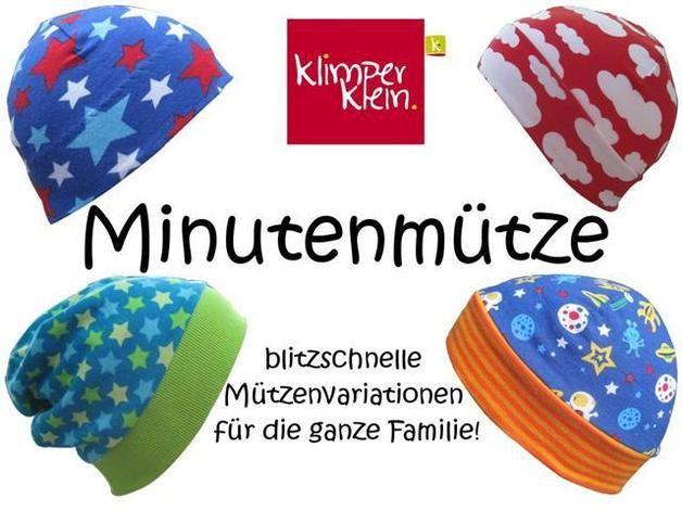 Nähanleitg. Accessoires - eBook Minutenmütze Mützenvarianten für 41-61cm KU - ein Designerstück von Klimperklein bei DaWanda