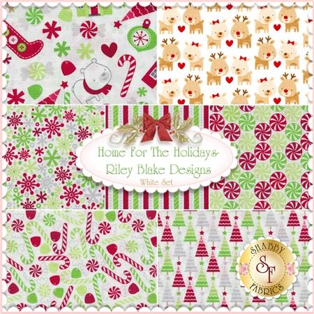 "Home For The Holidays 7 FQ Set - White By Doodlebug Designs for Riley Blake Designs: Home for the Holidays is a collection by Doodlebug Design Inc. for Riley Blake Designs. This set contains 7 fat quarters, each measuring approximately 18"" x 21""."