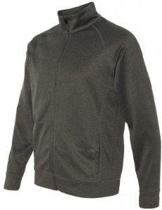 Image of Yoga Clothing For You Mens Lightweight Performance Jacket, 2XL Dark Heather Grey