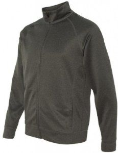 Image of Yoga Clothing For You Mens Lightweight Performance Jacket, 2XL Dark Heather Grey