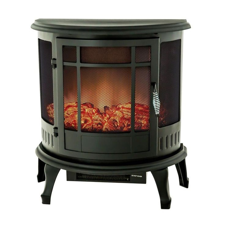 Freestanding Portable Electric Heater Fireplace Stove Remote Control Flame Home #FLAMESHADE