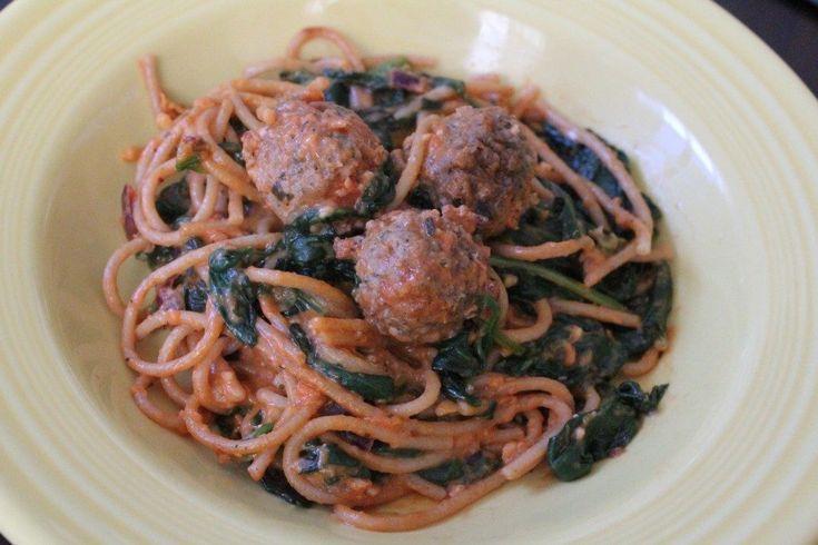 Jenny Craig Recipe Creation: Creamy Spaghetti Florentine | No Thanks to Cake