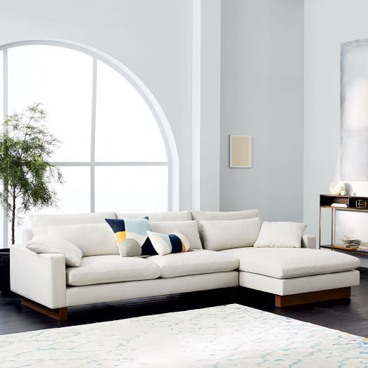 Captivating Harmony 2 Piece Chaise Sectional. Comfortable SofaRecycled ...