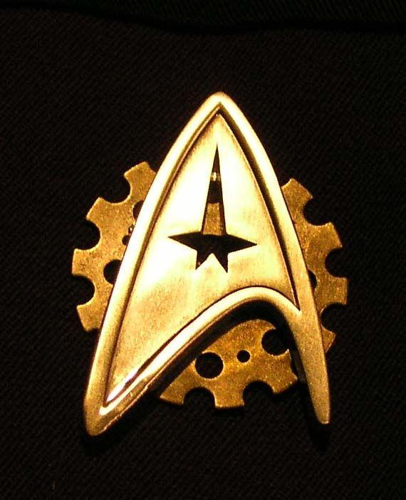 Close up of Steampunk Star Trek badge 2 by ~TreeVor on deviantART