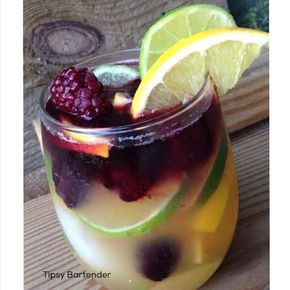 A Sangria with a twist! Make one of our Tequila Sangrias! Want the recipe? Click here! http://www.tipsybartender.com/blog/tequila-sangria