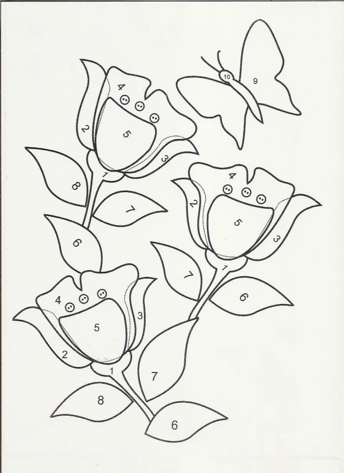 D Line Drawings Locations : Molde de tulipas para patchwork e patchaplique moldes