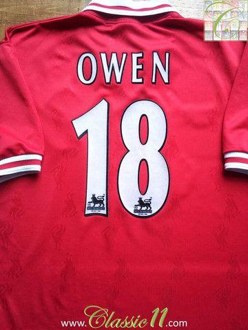 Relive Michael Owen's 1996/1997 Premier League season with this vintage Reebok Liverpool home football shirt.