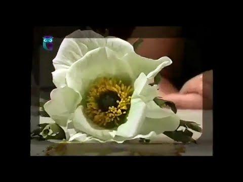 Делаем цветок белого мака из фоамирана (пористая резина). Мастер класс - YouTube