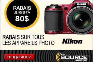 La Source - Rabais sur tous les appareils photo!  Économisez jusqu'à 80$.  L'offre prend fin le 7/30/13.  http://www.groupvaudreuil.com/toutes-les-offres/la-source-rabais-sur-tous-les-appareils-photo