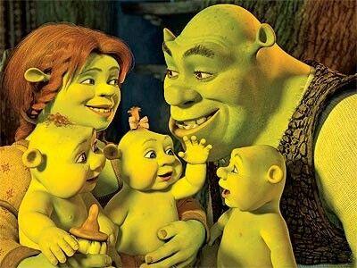Shrek fiona and the kids