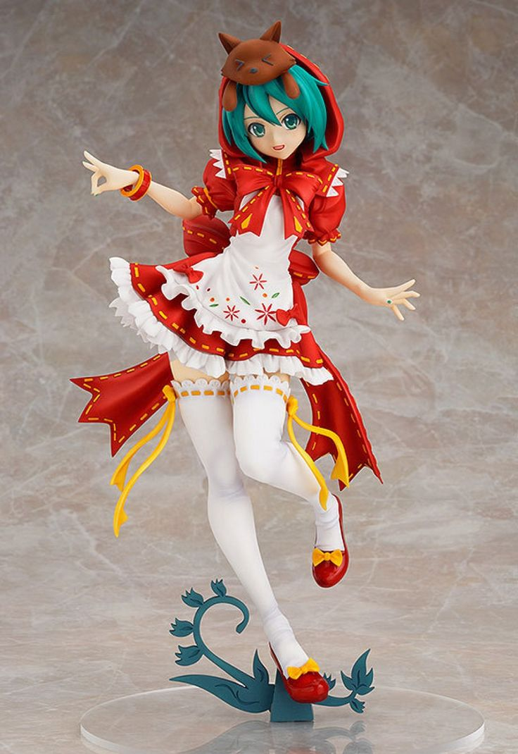 23cm Red Hat Hatsune Miku Anime Collectible Action Figure