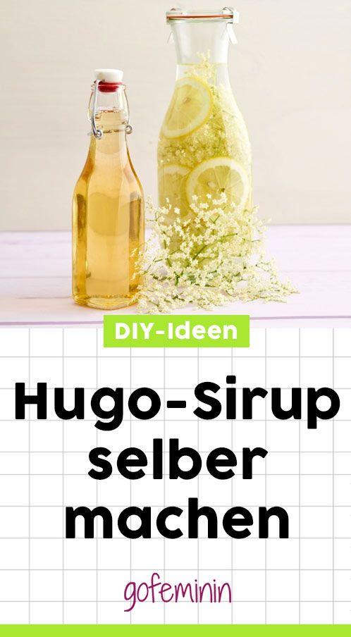 Hugo Sirup selber machen: Der schmeckt sooo gut! #hugo #drink #sirupselbermachen