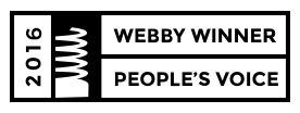 2016 Webby Award and People's Voice Winner