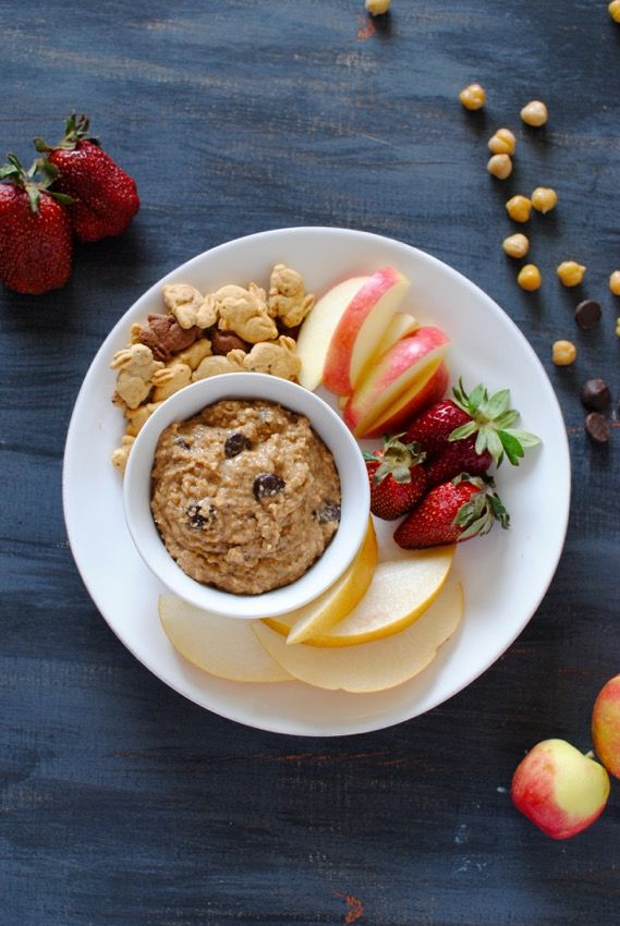 Chocolate Chip Hummus - more like cookie dough than hummus, but healthy and perfect for dipping!