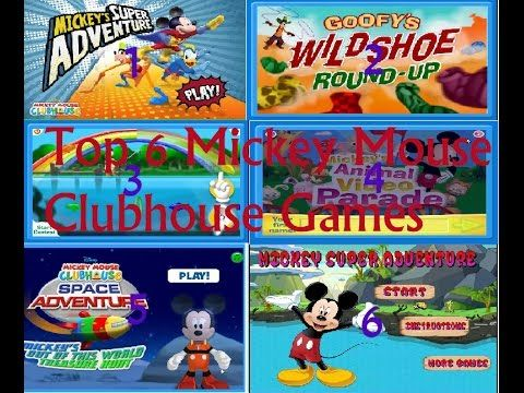 Top 6 Mickey Mouse Clubhouse Games