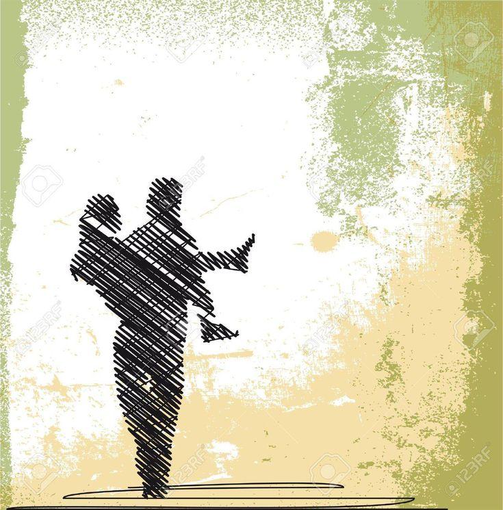 abstrakte skizze der bräutigam trägt braut vektor-illustration Standard-Bild