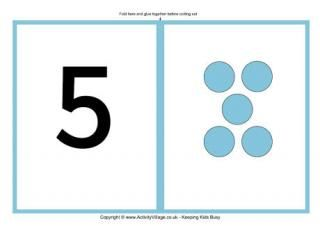 Large Number Cards with Dots