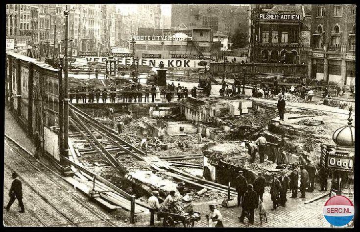 Rokin Amsterdam (jaartal: 1910 tot 1920) - Foto's SERC