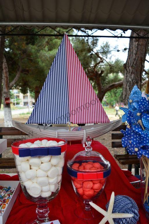ΣΤΟΛΙΣΜΟΣ ΓΑΜΟΥ - ΒΑΠΤΙΣΗΣ :: Στολισμός Βάπτισης Θεσσαλονίκη και γύρω Νομούς :: ΣΤΟΛΙΣΜΟΣ ΒΑΠΤΙΣΗΣ ΝΑΥΤΙΚΟΣ ΜΕ ΚΑΡΑΒΑΚΙΑ ΚΑΙ ΑΝΕΜΟΜΥΛΟ - ΚΩΔ.: KA852