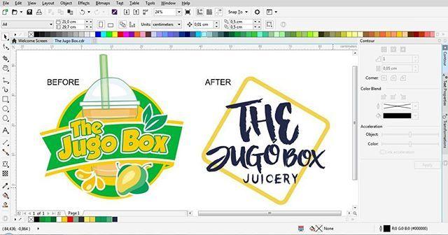 """""""Logo merupakan bagian penting dari sebuah brand untuk menunjukkan identitas pembuat atau penjual dari suatu produk/jasa. - Logo The Jugo Box Kiri sebelum di revisi Kanan setelah di revisi - 🎨 @distic.id Membantu bisnis anda tampil menarik - Hubungi (SMS/WhatsApp) : 📱 +1 (506) 501-3838 - #distic #muslim #entrepreneurship #graphic #design #graphicdesign #muslimdesigner #branding #brandingdesign #brandingsolutions #product #business #banner #digitalmarketing #printing #desain #logo #halal…"""