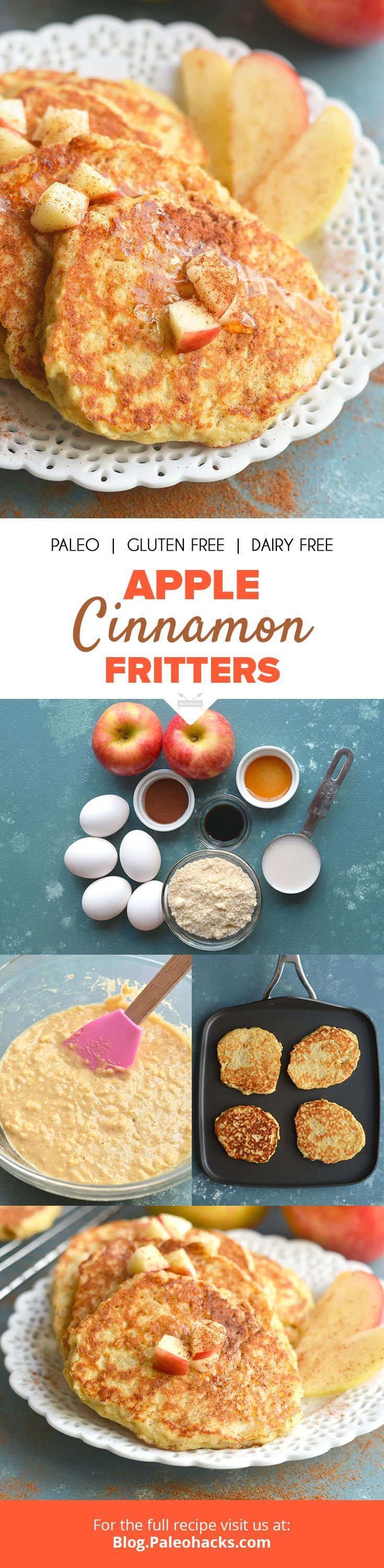 Cook These Apple Cinnamon Fritters in Coconut Oil for a Gluten-Free Breakfast! Get the full recipe here: http://paleo.co/applecinnafritters