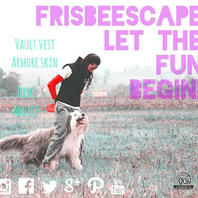 FrisbeEscape FE  it's the newest brand that make  unique and innovative Disc Dog equipment.  NEW DESIGN FRISBEE FOR DOGS VEST MADE WITH TECH-FABRIC COLORFUL BANDANAS CUSTOMIZATION  Contact us at: Info@frisbeescape.com