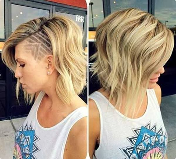 shaved hairstyles for women 10