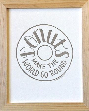 Donuts Make The World Go 'Round from Nourishing Notes, donut, donuts make the world go round, doughnut