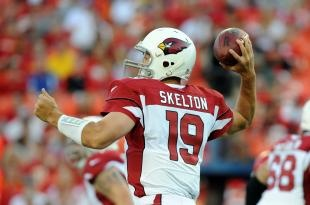 Coming into the season with major question marks at the quarterback position, Kevin Kolb has led the Arizona Cardinals to their first 4-0 start in 38 years.    Kolb threw for 324 yards and three touchdowns, including the game-tying 15- yard score to Andre Roberts on fourth down with 22 seconds left in the fourth quarter, and Jay Feely nailed a game-winning 46-yard field goal in overtime as the Cardinals downed the Miami Dolphins, 24-21, on Sunday.